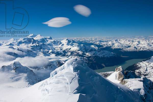 Andean peaks crest the clouds above the Northern Patagonian Ice Field (photo)