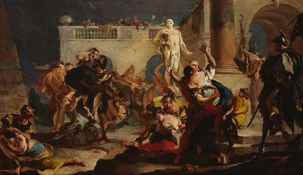 The Rape of the Sabine Women, c.1718-19 (oil on canvas)