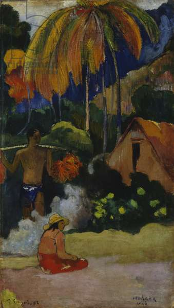 Landscape in Tahiti (Mahana Maa) 1892 (oil on canvas)