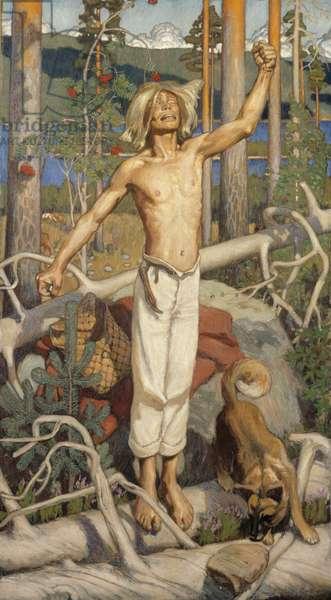Kullervo's Curse, 1899 (oil on canvas)