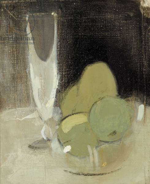 Green Apples and Champagne Glass, 1934 (oil on canvas)