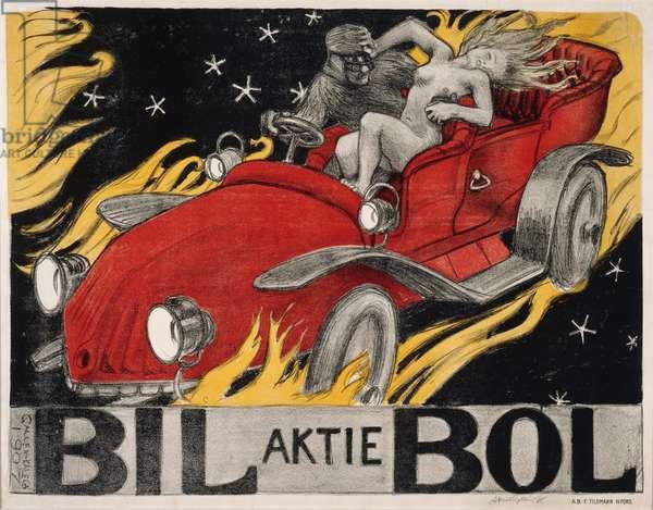 'Bil-Bol', poster for an automobile retailer, 1907 (colour litho)