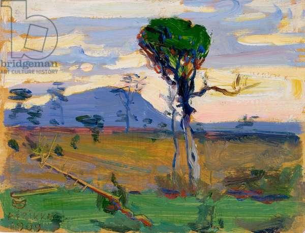 Ol Donyo Sabuk, 1909 (oil on panel)