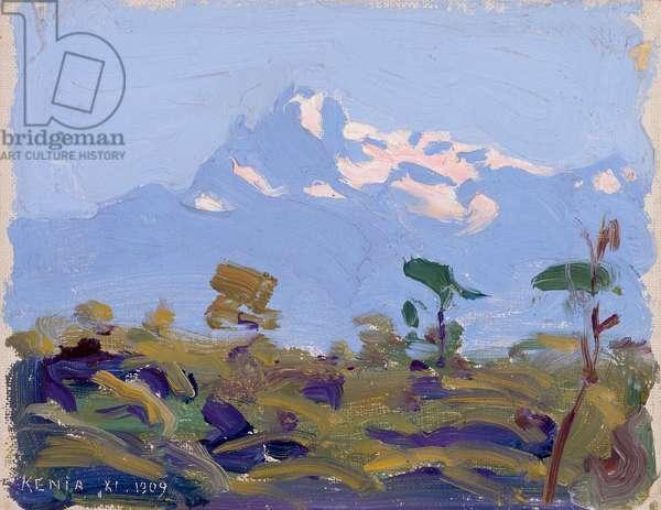 Mt. Kenya, 1909-10 (oil on canvas)