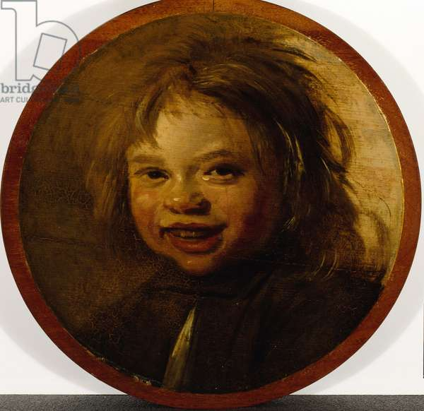 The laughing child (oil on wood)