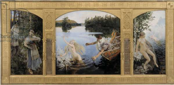 Aino Triptych, 1891 (oil on canvas)
