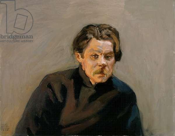Portrait of Maxim Gorky, 1906 (oil on canvas)