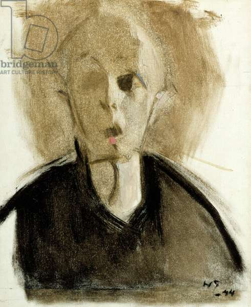 Self-Portrait with Red Spot, 1944 (oil on canvas)