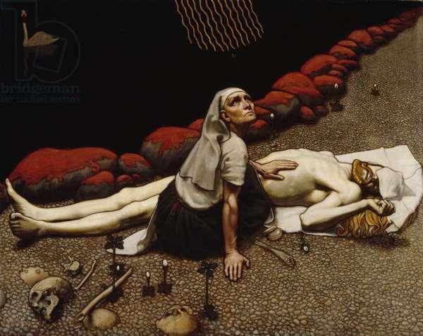 Lemminkäinen's Mother, 1897 (tempera on canvas)