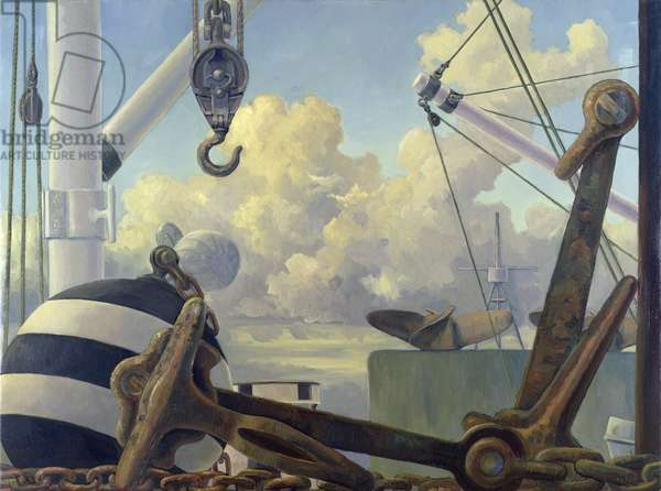 Marine Assemblage with Propellers (oil on canvas)