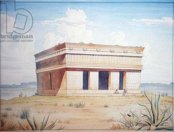 The Temple of the Turtles, Uxmal, Mexico, 1983 (w/c on paper)