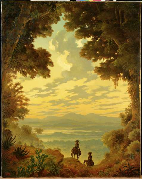 Horsemen on an Escarpment, 1992 (oil on canvas)