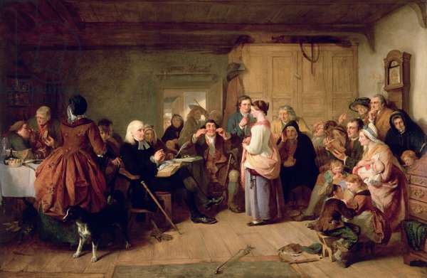 Presbyterian Catechising, 1847 (oil on canvas)