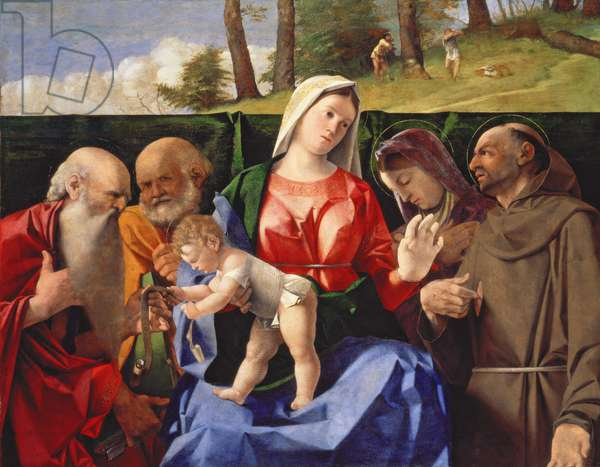 Virgin and Child with Saints Jerome, Peter, Clare and Francis, c.1505-10