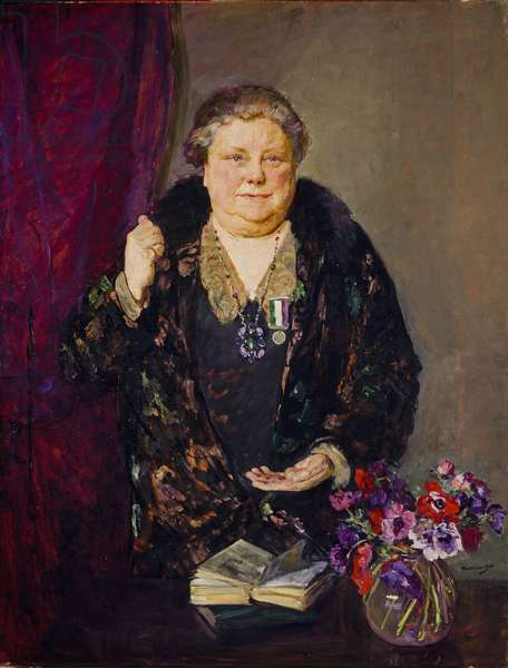 The Suffragette Flora Drummond, 1936 (oil on canvas)