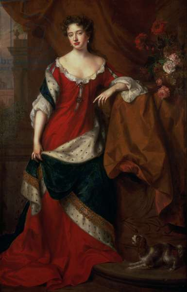 Queen Anne (1665-1714) (oil on canvas)
