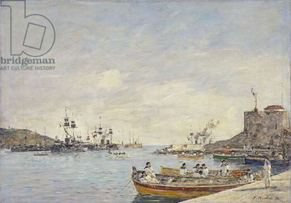 Villefranche Harbour, 1892 (oil on canvas)