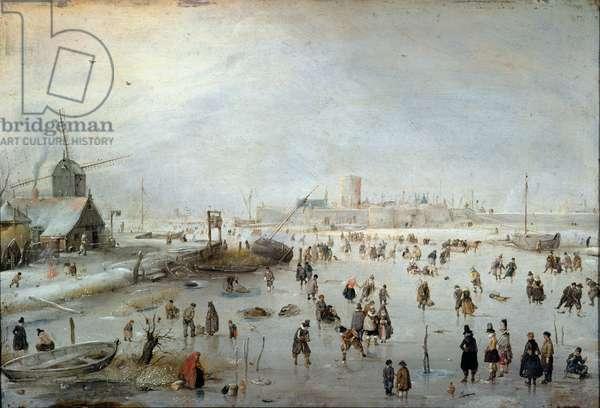 Winter Landscape, early 1620s (oil on copper)