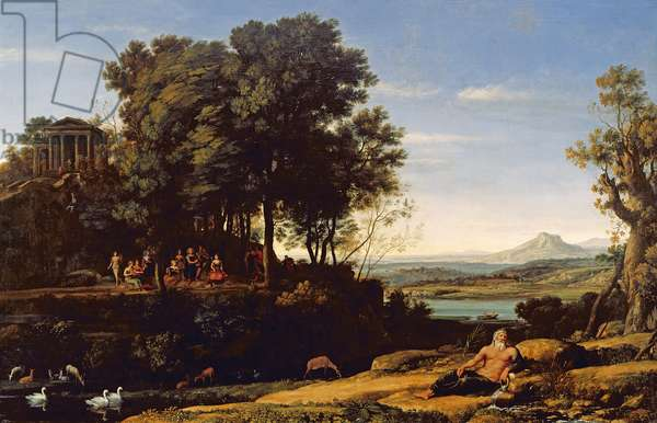 Landscape with Apollo and the Muses, 1652 (oil on canvas)