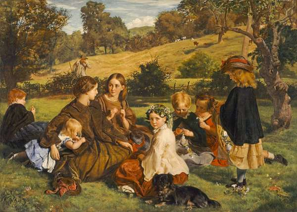 Summertime, Gloucestershire, exh.1860 (oil on canvas)