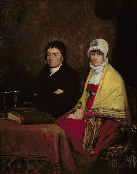 The Artist's Parents, 1813 (panel)