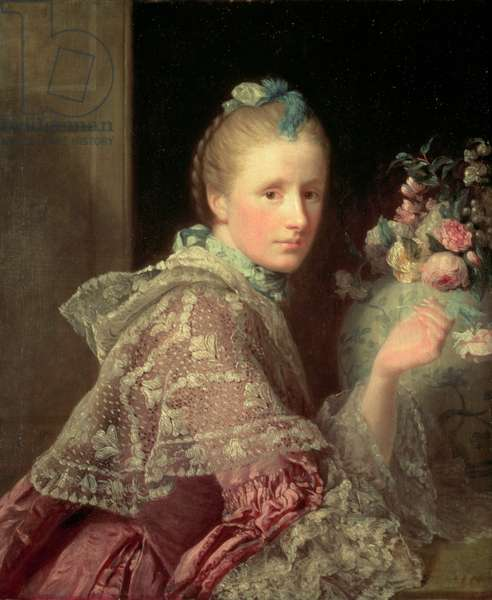 The Artist's Wife: Margaret Lindsay of Evelick, 1754-55 (oil on canvas)