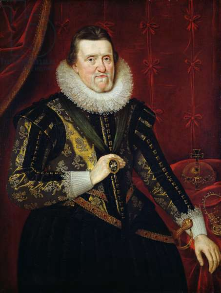 James VI of Scotland and I of England and Ireland  (1566-1625) (oil on canvas)