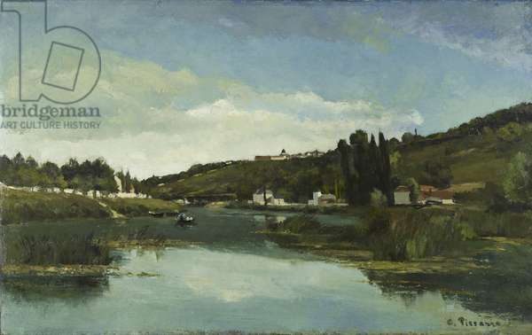 The Marne at Chennevieres, c.1864-65 (oil on canvas)