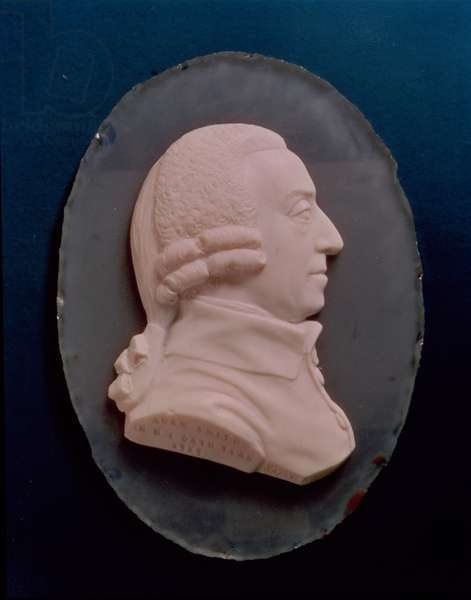 Portrait medallion of Adam Smith, 1787 (paste)