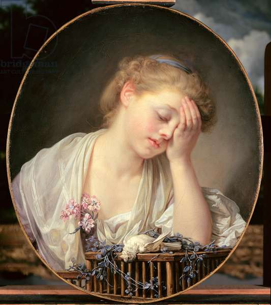 A Girl with a Dead Canary, 1765 (oil on canvas)