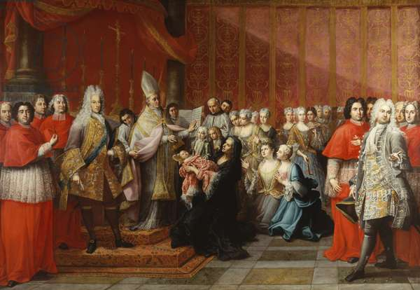 The Baptism of Prince Charles Edward Stewart (1720-88), 1722-35 (oil on canvas)