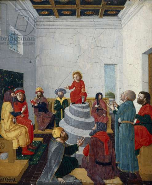 Christ Disputing with the Doctors (oil on panel)