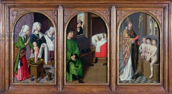 Three Legends of St. Nicholas, c.1500-20 (oil on panel)