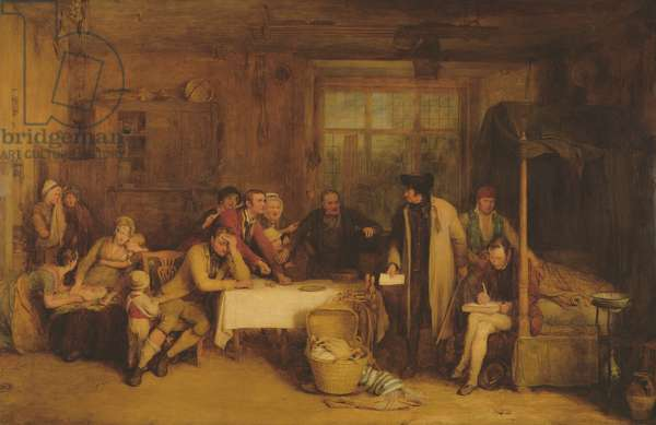 Distraining for Rent, 1815 (panel)
