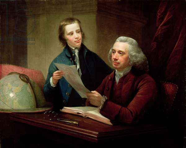Portrait of James Russell (d.1773) Professor of Natural Philosophy at Edinburgh University and his son, James (1754-1836) 1769