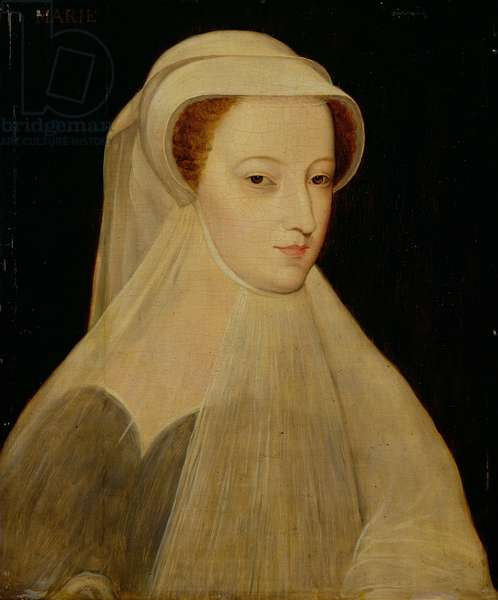 Mary, Queen of Scots in white mourning (oil on panel)