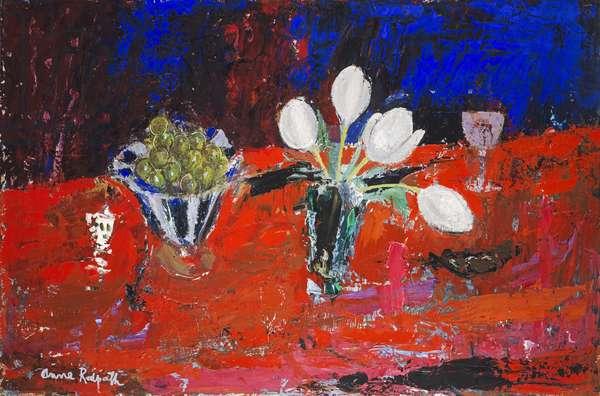 White Tulips, c.1963 (oil on hardboard)