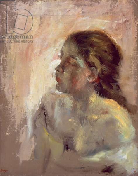 Study of a Girl's Head, late 1870s (oil on canvas)