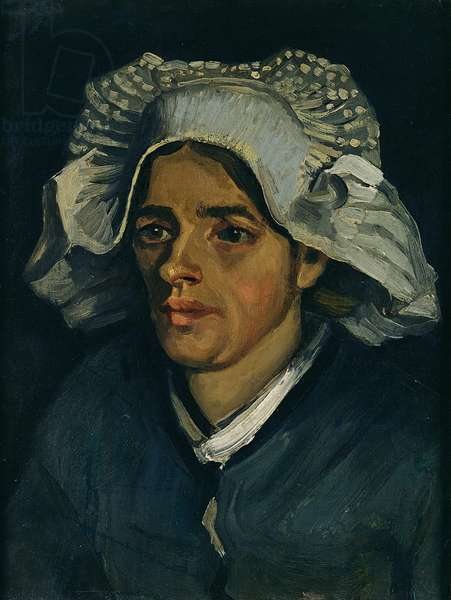 Head of a Peasant Woman, 1885 (oil on canvas laid on millboard)