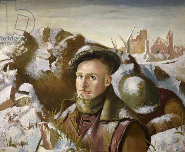 Existence Precarious, self portrait, 1946 (panel)