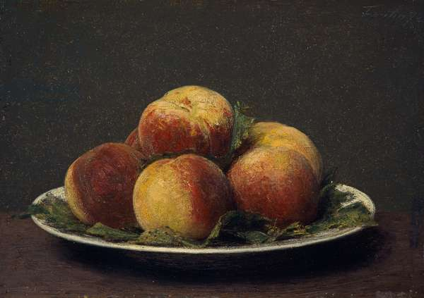 Peaches on a dish, 1873 (panel)