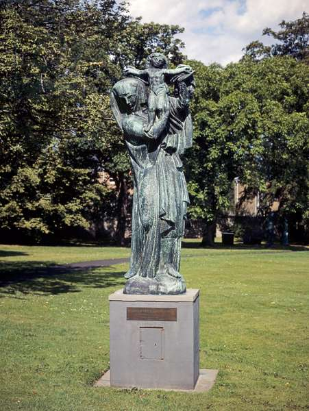 The Virgin of Alsace, early version of monumental sculpture in Vosges, 1919-21 (bronze)