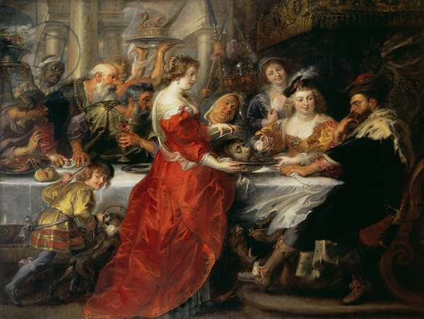 NG 2193 The Feast of Herod, 1633 or c.1637-38