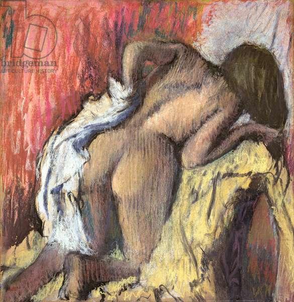 Woman Drying Herself, c.1890-95 (pastel)