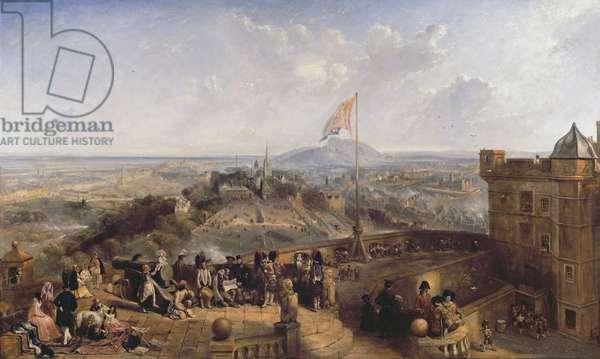 Edinburgh Old and New (oil on panel)