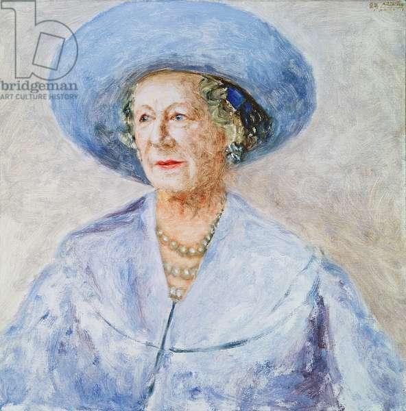 H.M. Queen Elizabeth, the Queen Mother (1900-2002), 1983 (oil on canvas)
