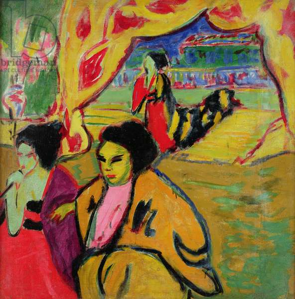 Japanese Theatre, 1909 (oil on canvas)