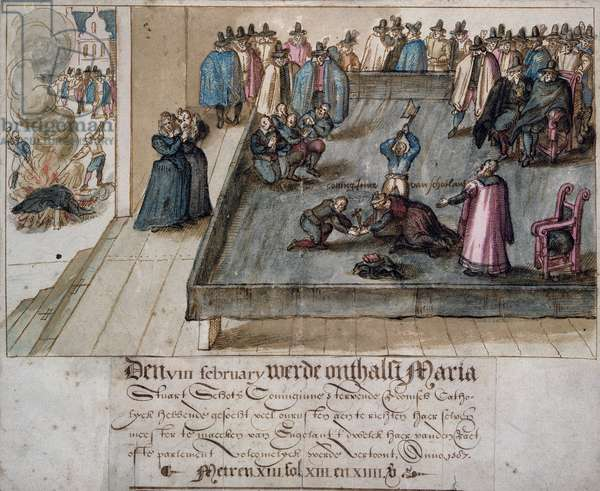 The Execution of Mary Queen of Scots, c.1613 (w/c on paper)