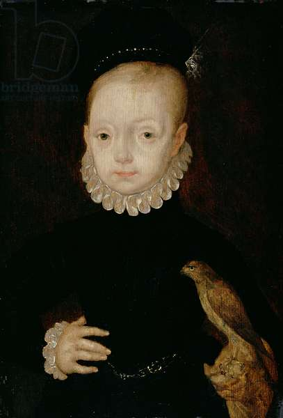 James VI of Scotland and I of England as a boy, c.1574 (oil on panel)