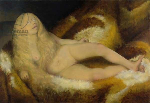 Nude Girl on a Fur, 1932 (tempera and oil)